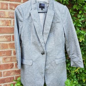 The limited gray 3/4length blazer rushed sleeve S
